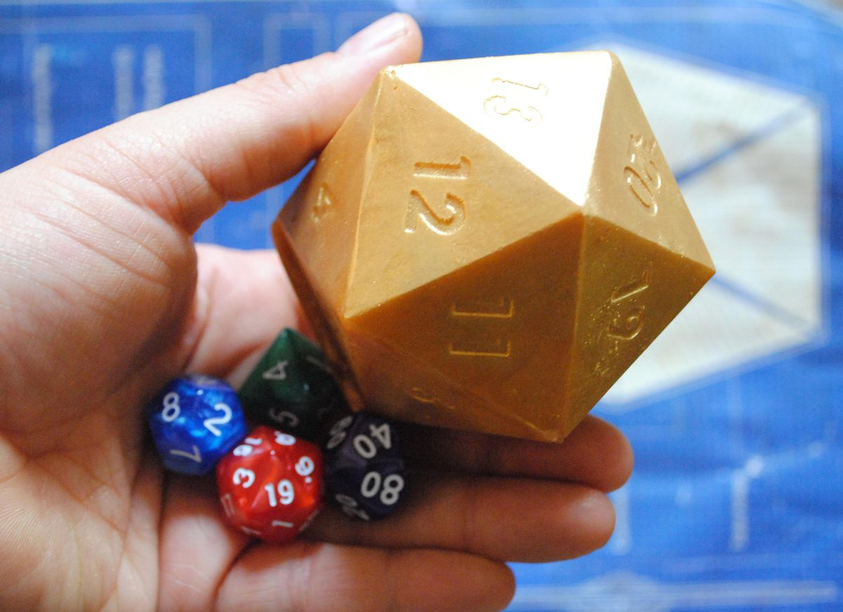 D20 soap and mystery dice